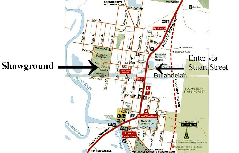 Directions to Bulahdelah Showground